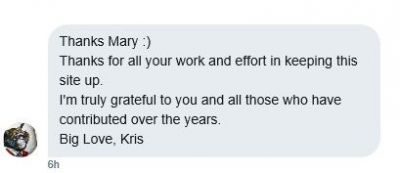 I've DM Kris on Twitter letting him know today is krisholden-ried.com 5th Birthday!  This is his reply: